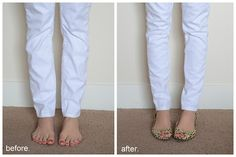 Merricks Art: Tutorial- How to make your skinny jeans skinny instead of slouchy at the bottom: Short girls REJOICE!