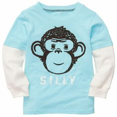 Layered-Look Graphic Tee - Joshua would love the monkey!