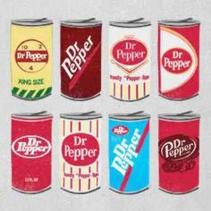 Always looking and tasting good since Day Take a look at all the retro labels and cans from Dr Pepper today! Soda Brands, Buy Edibles Online, Dr Pepper Can, Soda Fountain, Liqueur, Candy Bouquet, Mini Fridge, Custom Tumblers, Vintage Recipes