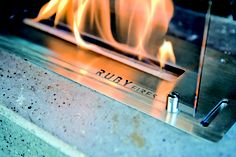 Detail bio brander Ruby Fires. Het meest veilige vuur!