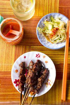 The ultimate skewer of barbecued beef? Perhaps. #Siem Reap #Travel #Food #Drink