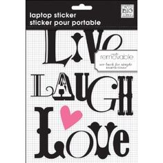 Me & My Big Ideas Removable Laptop Sticker, Live Laugh Love Live Laugh Love, Laptop Computers, Laptop Stickers, Laptop Skin, Me Quotes, Thats Not My, How To Remove, Laptops, Free Shipping