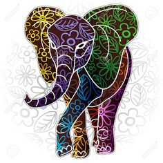 Images For > Tribal Pattern Elephant Drawing
