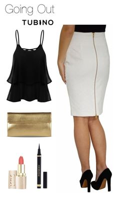 Going Out with Pencil Skirt Ivory White by tubino-skirts-dresses on Polyvore featuring mode, Maison Margiela and Yves Saint Laurent