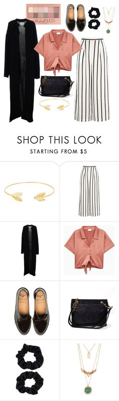 """""""stripped"""" by kennzi on Polyvore featuring Lord & Taylor, Finders Keepers, Maybelline, Ora, Chanel and Accessorize"""
