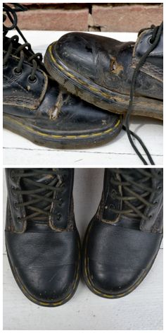 Repair a scrape on faux leather shoes pinterest jar leather and fix holes in leather boots fix my english boots for open shows no one solutioingenieria Choice Image