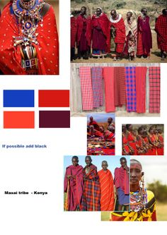 Africa mosaic of sound & vision Hemyock school, colour board for Massi tribe