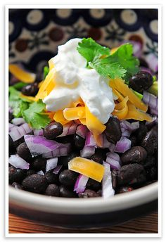 Setup a Black Bean Bar for a simple lunch  #food