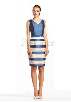 Vestido de fiesta María Lago 2016 Modelo 2030 en Eva Novias Madrid. #vestido #moda #fashion #dress #vestidocorto #madrina #coktel #tienda #madrid