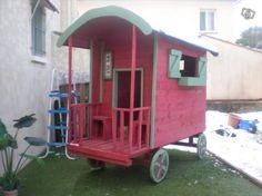 Cabane roulotte