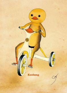黃色小鴨騎小鴨