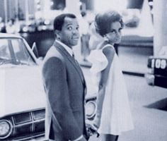 Berry Gordy and Diana Ross in Las Vegas, 1966.