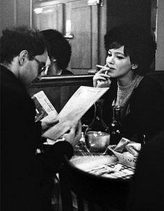 Jean-Luc Godard e Anna Karina Anna Karina, Francois Truffaut, French New Wave, Francoise Hardy, Jean Luc Godard, Boy Meets Girl, About Time Movie, Original Movie, Filmmaking