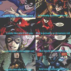 Batfam girls! (Batgirl: Barbara Gordon, Batwoman: Kate Kane, Spoiler: Stephanie Brown and Orphan: Cassandra Cain)