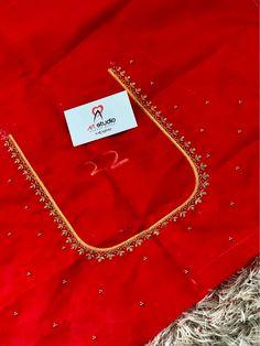 Blouse Designs High Neck, Best Blouse Designs, Hand Work Blouse Design, Simple Blouse Designs, Stylish Blouse Design, Bridal Blouse Designs, Simple Designs, Maggam Work Designs, Pattu Saree Blouse Designs