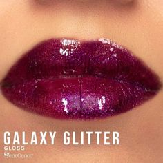 Limited Edition Galaxy Gloss by SeneGence is a rich, multidimensional tinted plum gloss with violet and red glitter. #galaxygloss #senegence
