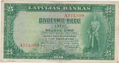 Latvia 25 Lati 1938.