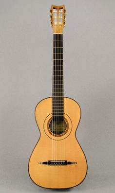 This guitar is based on an 1834 Louis Panormo with a European spruce soundboard and Brazilian RW back and ribs