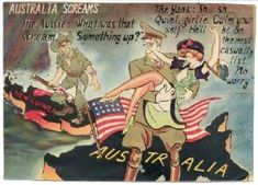Japanese propaganda intended to demoralise Australian troops fighting in the jungles while Americans made merry at home. There was immense rivalry between Australian and American soldiers that led to violence on many occasions.