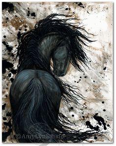 DreamWalker Friesian Horse Art Print