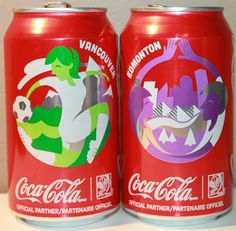 Coca Cola Coke Fifa 2015 Womens World Cup Soccer Vancouver and Edmonton Cans