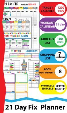 21 Day Fix Tracker will help you keep track your healthy lifestyle and will help you achieve your perfect body. https://www.etsy.com/listing/241307373/21-day-fix-tracker-21-day-fix-workout?ref=shop_home_feat_1