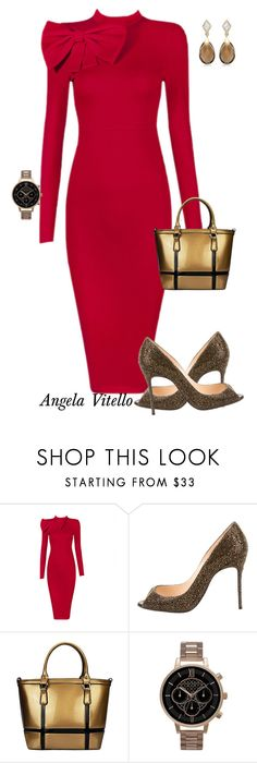 """Untitled #648"" by angela-vitello on Polyvore featuring Posh Girl, Christian Louboutin and Olivia Burton"