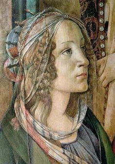 Detail of St. Catherine from the Altarpiece of San Barnaba - Sandro Botticelli (Italy, (Early Renaissance) Renaissance Kunst, Die Renaissance, Italian Renaissance Art, Renaissance Paintings, Michelangelo, Giorgio Vasari, Italian Painters, Italian Artist, Classical Art
