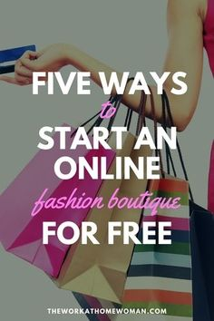 Do you want to have your own online fashion boutique, but you don't have any money to get started? This post will let you in on five fabulous and FREE fashion opportunities that you can do from home.