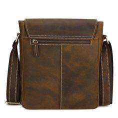 Kattee - Bolso al hombro para hombre marrón Dark Coffee small: Amazon.es: Equipaje
