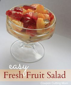 This is a super easy fruit salad recipe. The vanilla pudding gives this a great flavor.