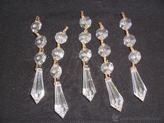 5 tiras de strass  lagrimas de cristal para lámpara. LAGRIMAS LAMPARA
