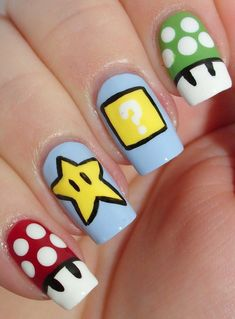 Gorgeous Metallic Nail Art Designs That Will Shimmer and Shine You Up Dipped in Lacquer: Comic-Con Geek Week Nail Art Challenge – Inspired by a [. Cute Spring Nails, Spring Nail Art, Summer Nails, Cute Nails, Pretty Nails, My Nails, Nail Art Designs, Blog Designs, Nails For Kids