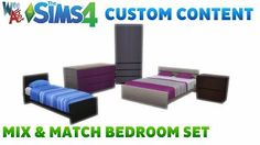 Mod The Sims - Mix and Match Bedroom Furniture