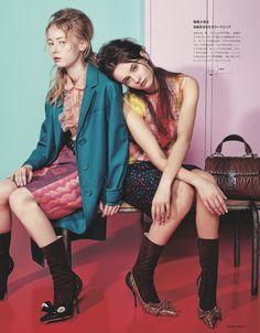 visual optimism; fashion editorials, shows, campaigns & more!: anna grostina, steffy argelich and maria veranen by sofia sanchez & mauro mongiello for numéro tokyo march 2015