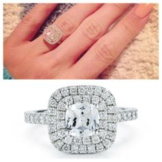 Put a Ring on it! Check out SES's blog for similar New York Dreams rings. Ashley Tisdale's engagement ring with similar SES style ring! www.sescreations.com/blog