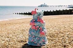 Flamingo cake by ChoccyWoccyDooDah in Brighton