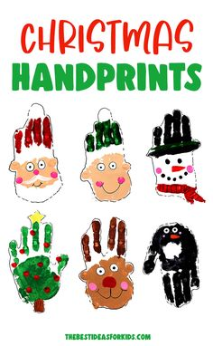 Christmas Handprint Art - make these adorable Christmas handprints! Perfect for keepsakes or gifts! A fun kindergarten or preschool Christmas craft too! Fun Projects For Kids, Easy Crafts For Kids, Art For Kids, Activities For Kids, Christmas Rock, Kids Christmas, Fingerprint Crafts, Preschool Christmas Crafts, Thanksgiving Projects