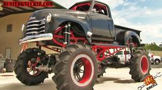 This Vintage 1950 Chevrolet Truck Has Been Transformed Into One Mean Epic Mud Truck!