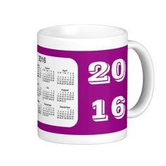 2016 Purple Calendar by Janz Coffee Mug Basic White Mug