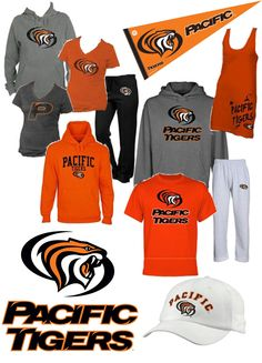 University of the Pacific Tigers Orange and Black gear! California Backyard, Southern California, University Of The Pacific, Home Basketball Court, Orange You Glad, Los Angeles California, Finding A House, Tigers, Outfit Ideas