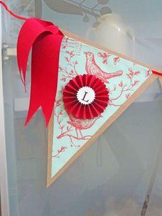Bridal Shower Decoration Completely Custom Gorgeous Wedding Pennant Banner
