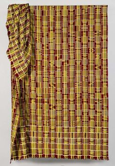 Africa | Kente cloth from the Ashanti people of Ghana | ca. 1900 to 1920 | silk.