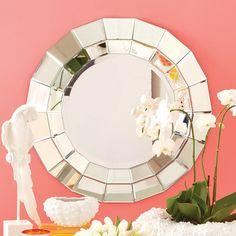 Round Beveled Wall Mirror - Annette Tatum