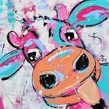 Afbeeldingsresultaat voor vrolijke schilderijen koeien