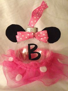 This ornament is the perfect fit for any Minnie Mouse fan. It comes in two different colors. Either the pink one thats show up above or red. When