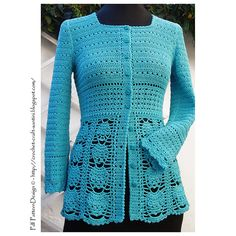 Ravelry: Crochet Blue Cardigan NEW pattern by Ingunn Santini
