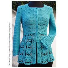 Ravelry: Crochet Blue Cardigan NEW pattern by Ingunn Santini