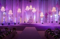 Arabic wedding stage design and lighting.