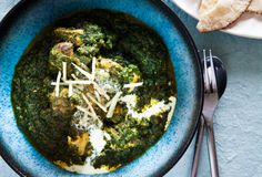 nadia lim - chicken saag.  I can't even begin to say how excited I am to have a recipe for this!!